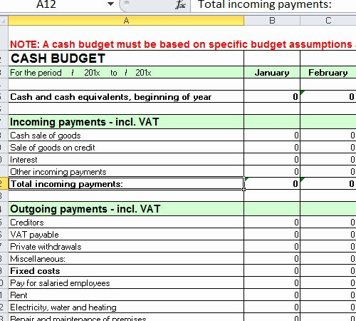 Cash Budget Template Excel Best Of Free Cash Bud Example Worksheet Excel