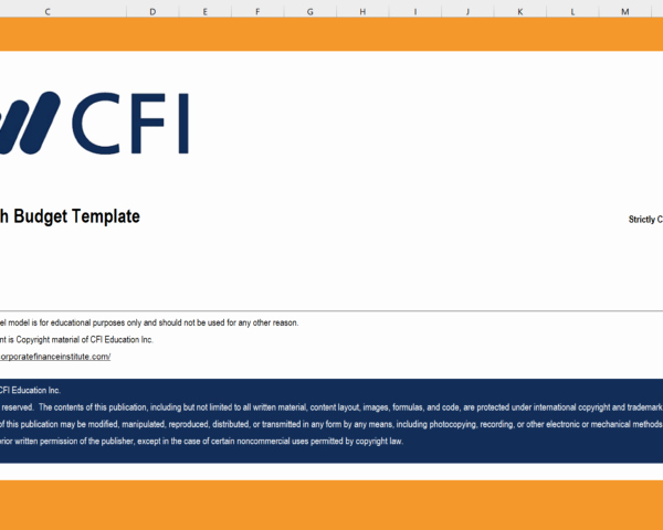 Cash Budget Template Excel Luxury Operating Bud Excel Template Cfi Marketplace