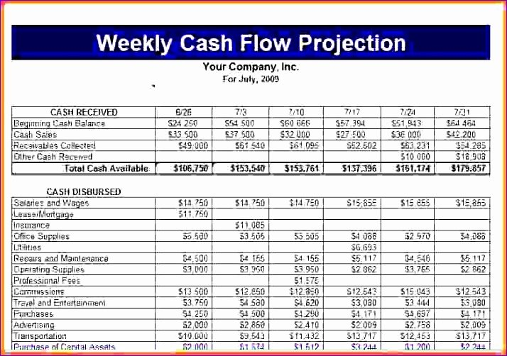 Cash Flow Template Excel Free Fresh 9 Quarterly Cash Flow Projection Template Excel