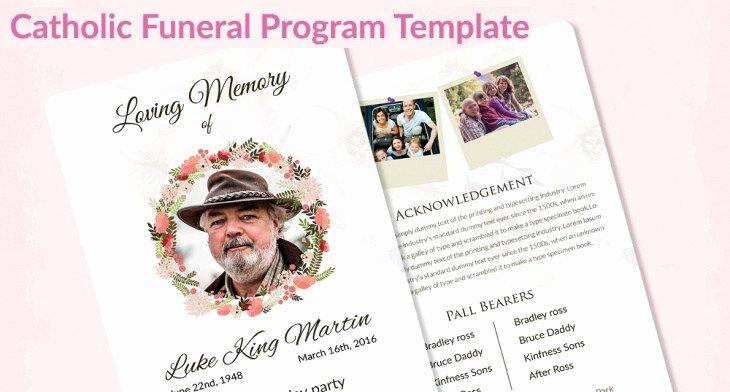 Catholic Funeral Program Templates Best Of 5 Catholic Funeral Template – Free Word Pdf Psd