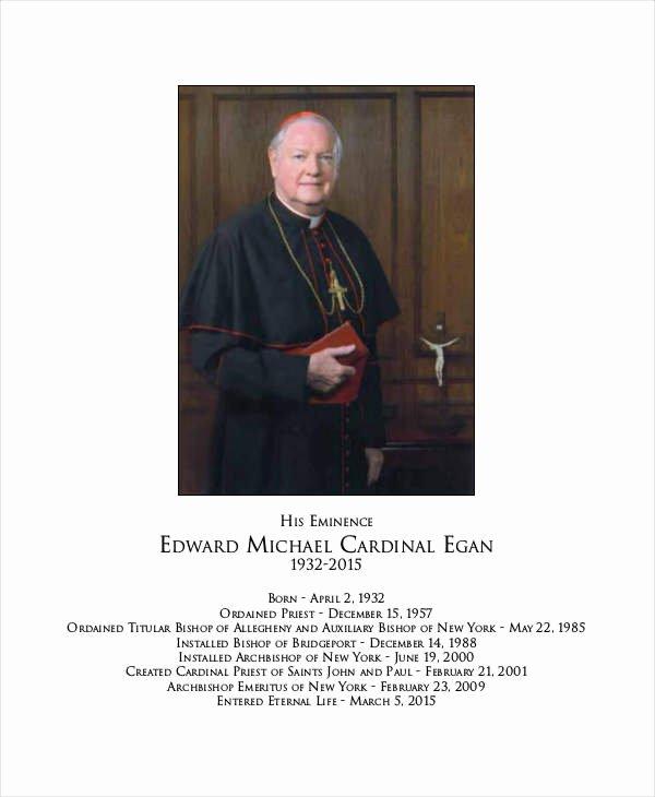 Catholic Funeral Program Templates New Funeral Program Template 23 Free Word Pdf Psd format