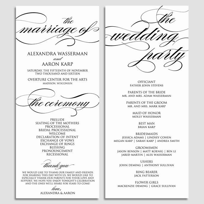 Catholic Wedding Program Templates Free Awesome Wedding Program Template Wedding Program by Modernsoiree