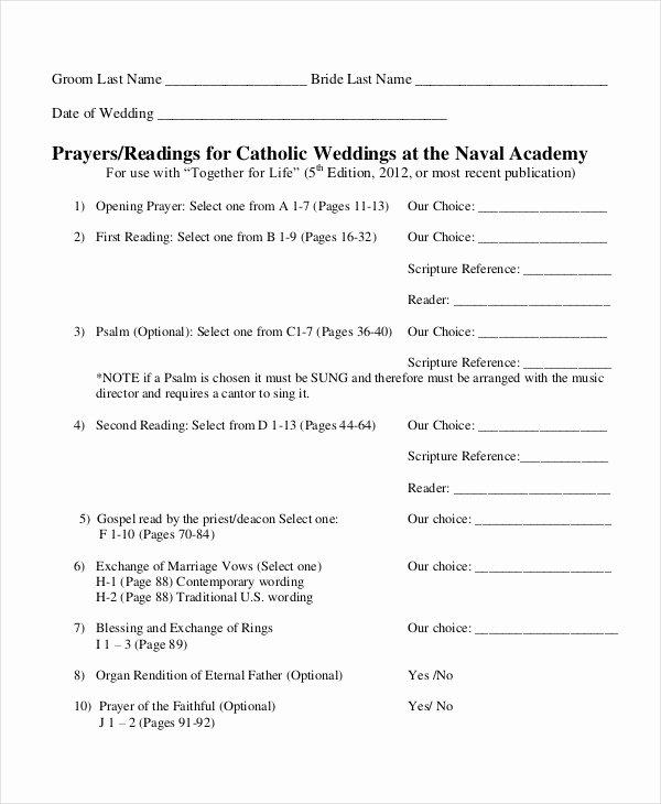Catholic Wedding Program Templates Free Best Of 10 Wedding Program Templates Free Sample Example