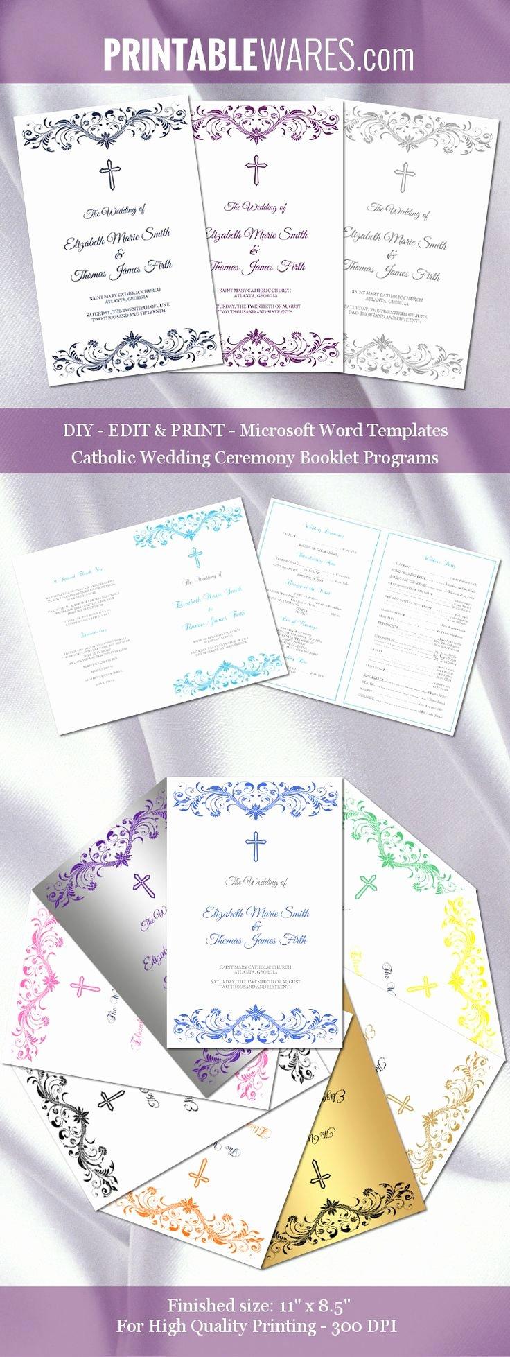 Catholic Wedding Program Templates Free Best Of Catholic Wedding Program Templates for Microsoft Word You