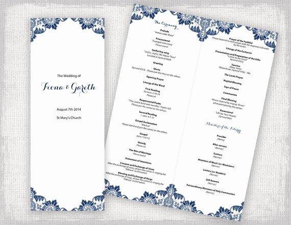 Catholic Wedding Program Templates Free Fresh Catholic Wedding Program Template Antique Lace Diy