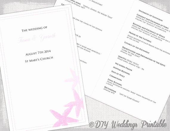 Catholic Wedding Program Templates Free Fresh Catholic Wedding Program Template Pink Beach