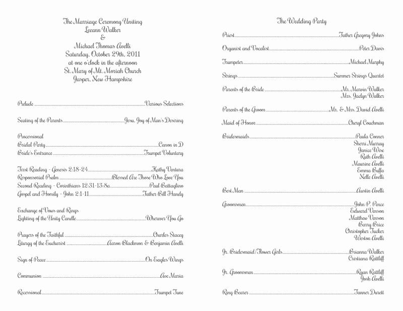 Catholic Wedding Program Templates Free Fresh Wedding Program Templates Wedding Programs Fast