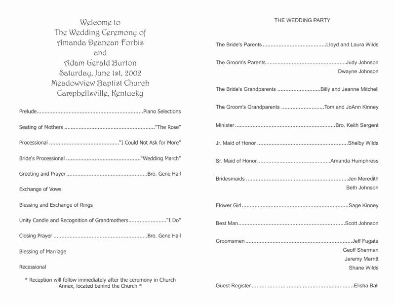 Catholic Wedding Program Templates Free Lovely Wedding Program Templates Wedding Programs Fast