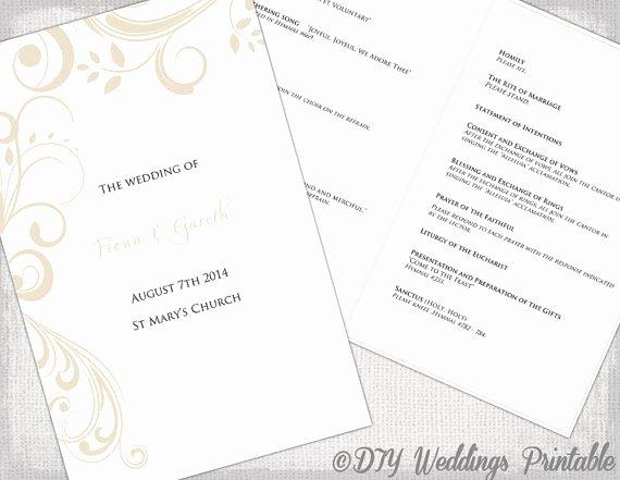 Catholic Wedding Program Templates Free Luxury Catholic Wedding Program Template
