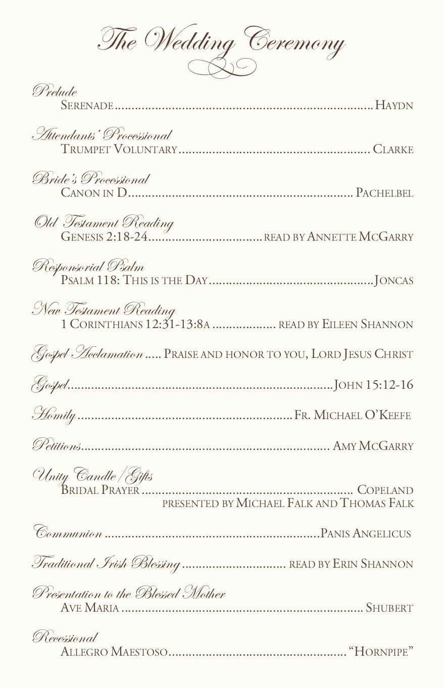 Catholic Wedding Program Templates Free Luxury Clarnette S Blog Wedding Reception Table Ideas the Main