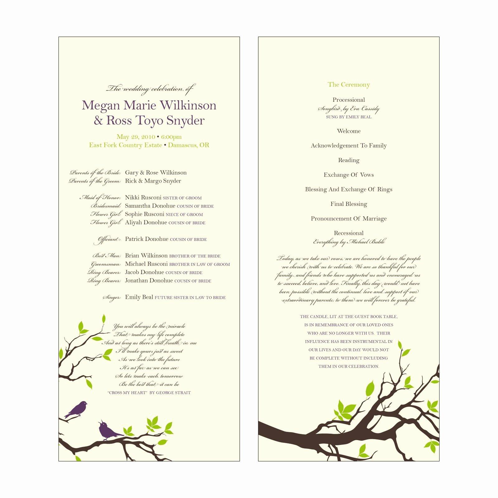 Catholic Wedding Program Templates Free Unique Lameeka S Blog Catholic Wedding Programs
