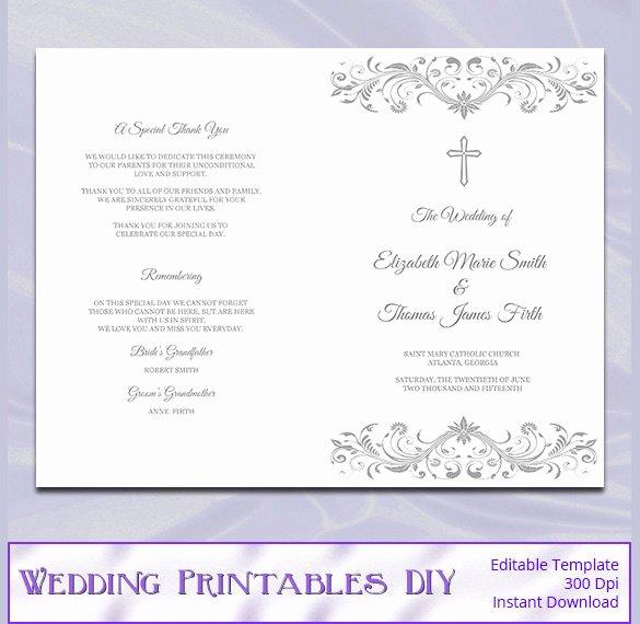 Catholic Wedding Program Templates Free Unique Wedding Program Template 41 Free Word Pdf Psd