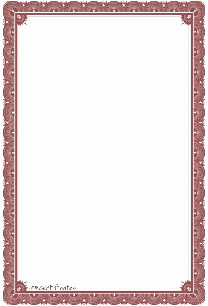 Certificate Borders for Word Awesome Free Certificate Border Templates for Word Image