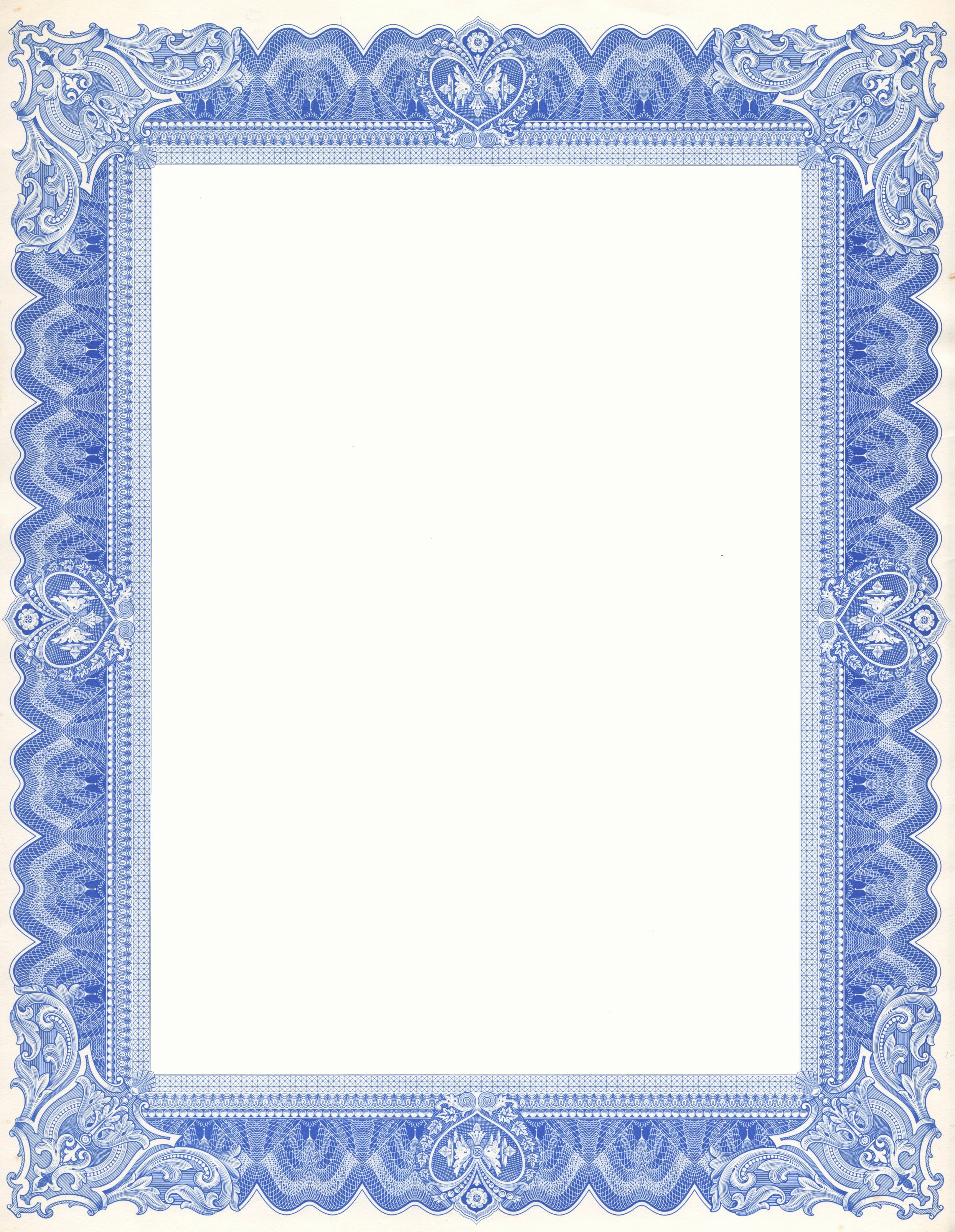 Certificate Borders for Word Luxury Free Documents