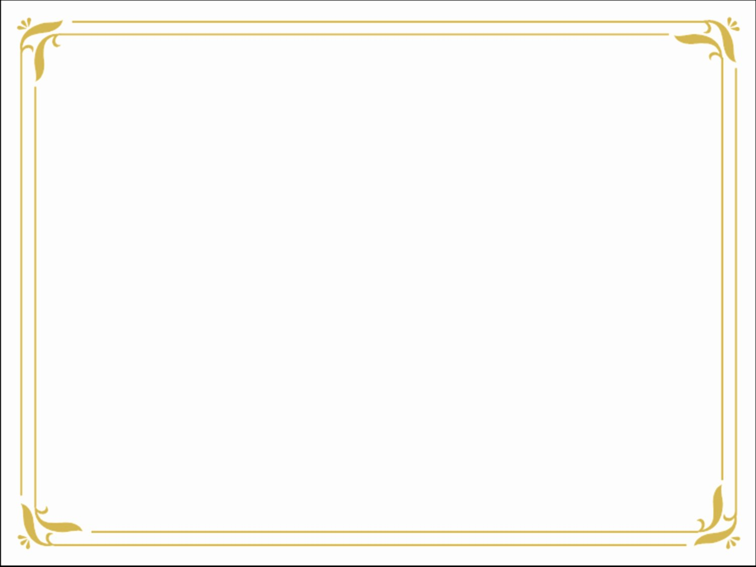 Certificate Borders for Word New Word Doc Download Simple Gold Certificate Border Ppt Template
