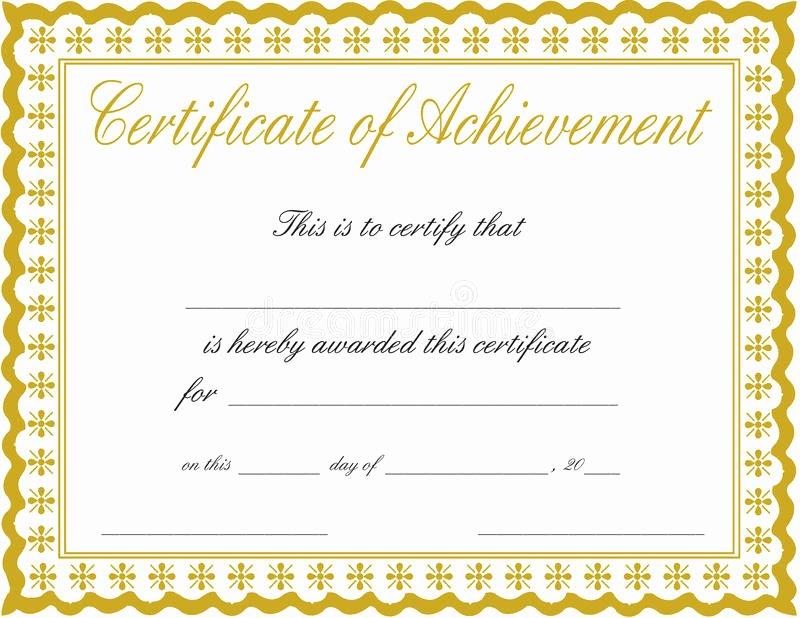 Certificate Of Achievement Best Of Certificate Of Achievement Stock Image Image Of Bronze