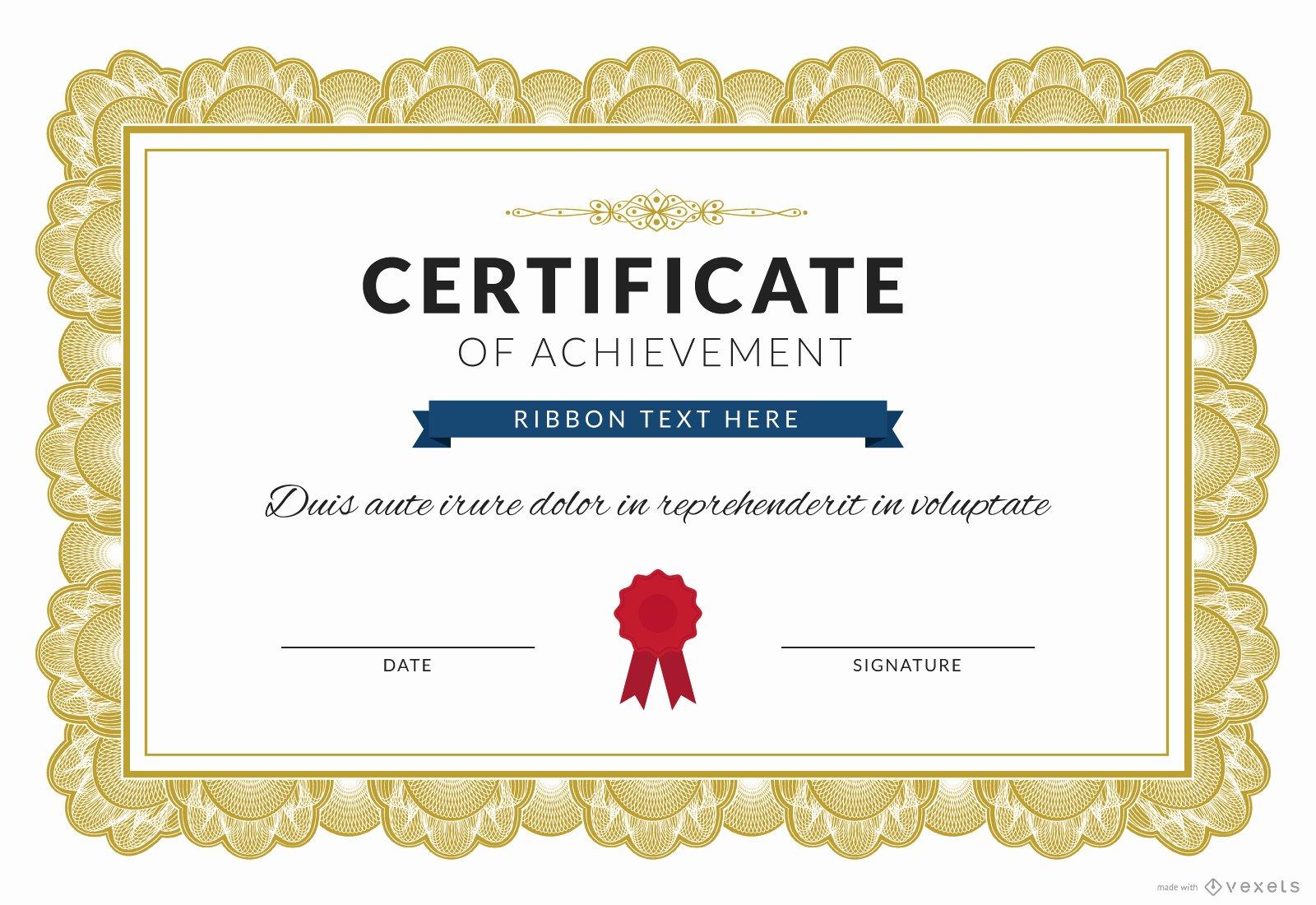 Certificate Of Achievement Elegant Certificate Of Achievement Maker Editable Design