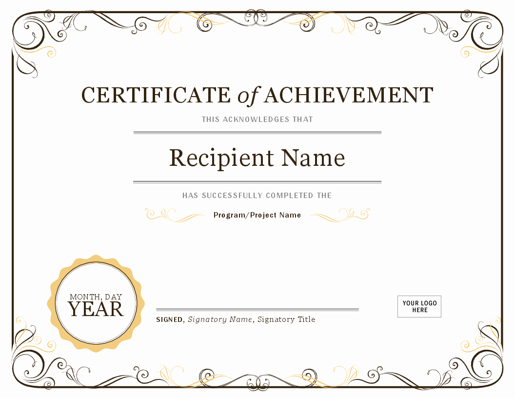 Certificate Of Achievement Elegant Certificate Of Achievement