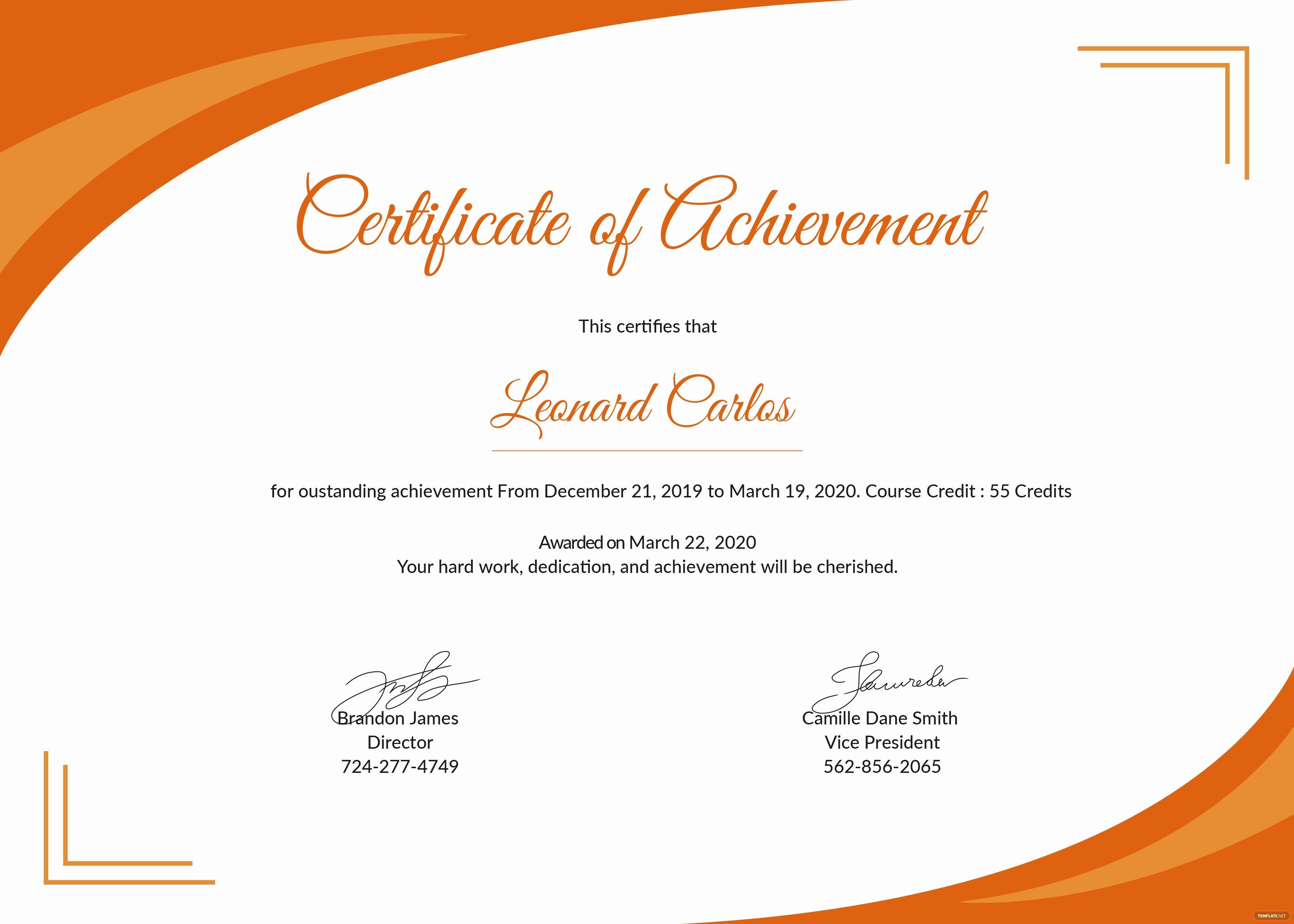 Certificate Of Achievement Elegant Certificate Templates