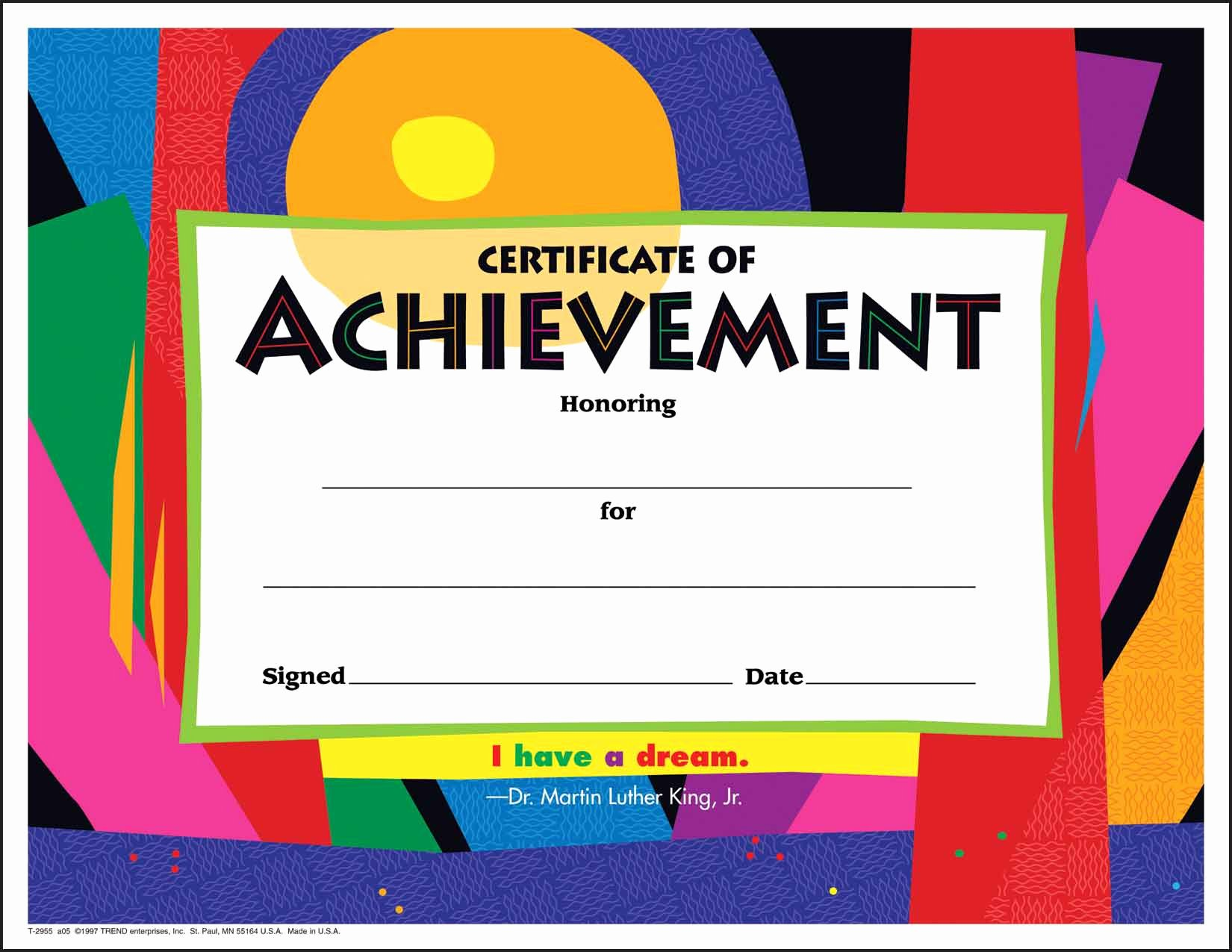 Certificate Of Achievement Inspirational 30 Certificates Of Achievement Large Certificate Award