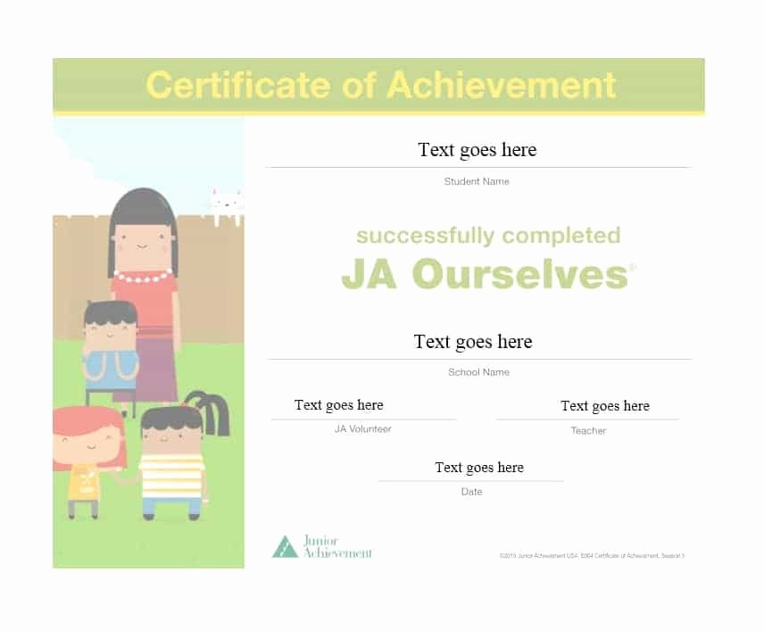 Certificate Of Achievement Inspirational 40 Great Certificate Of Achievement Templates Free