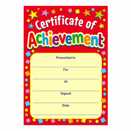 Certificate Of Achievement Inspirational Certificate Of Achievement Mini Certificates