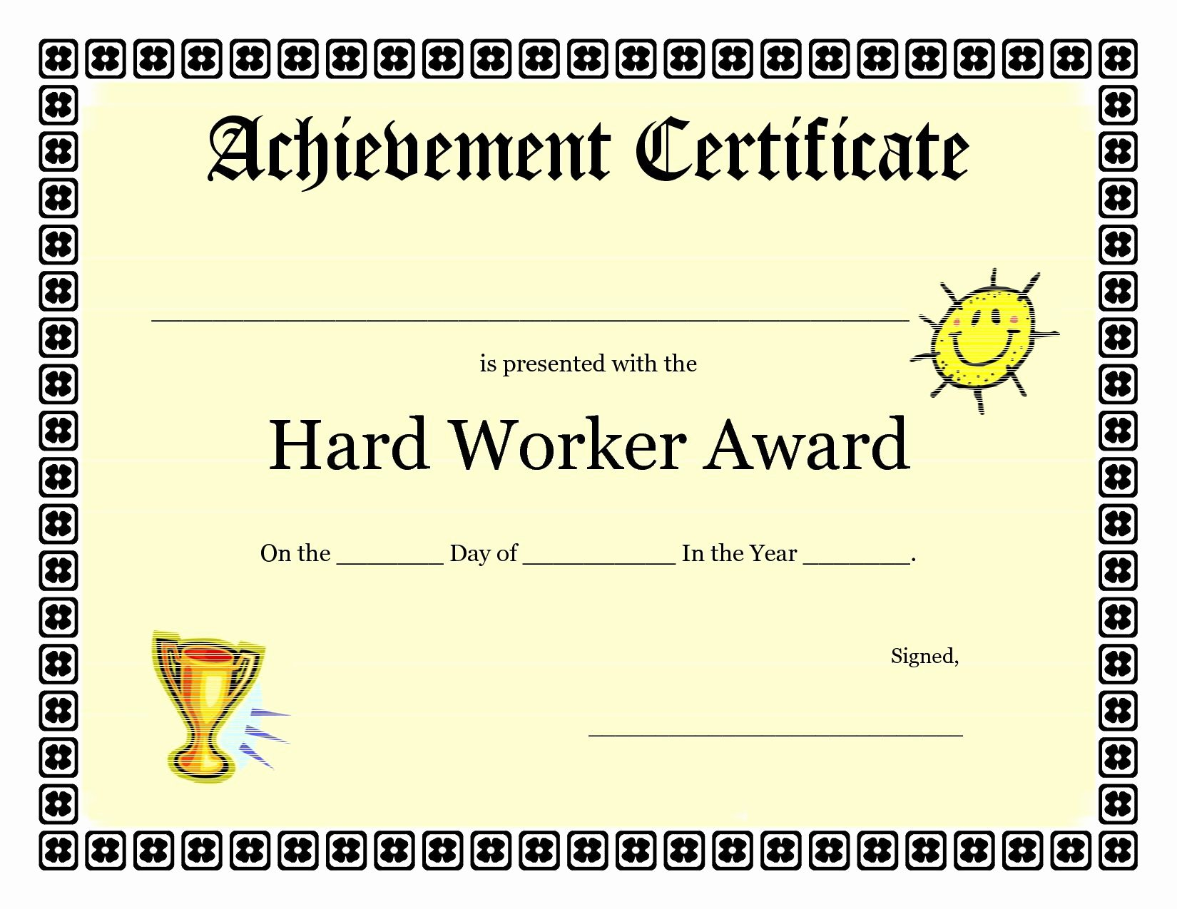 Certificate Of Achievement Inspirational Printable Achievement Certificates Kids
