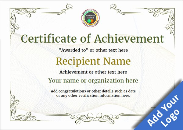Certificate Of Achievement Lovely Certificate Of Achievement Free Templates Easy to Use