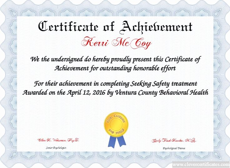 Certificate Of Achievement New Certificate Of Achievement Free Certificate Templates for
