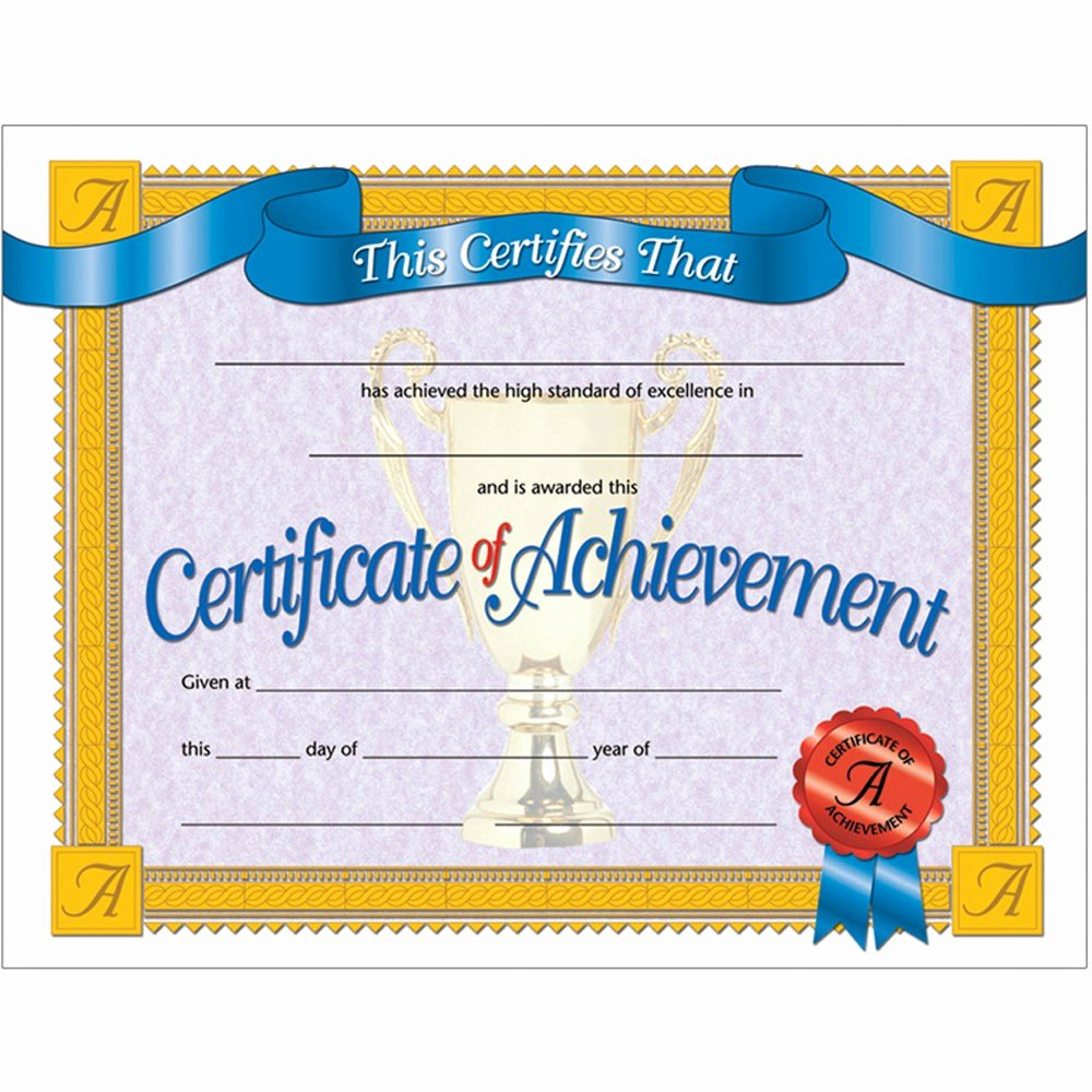 Certificate Of Achievement New Certificates Achievement 30 Pk 8 5 X 11 Inkjet Laser