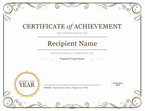 Certificate Of Achievement Unique Certificates Fice
