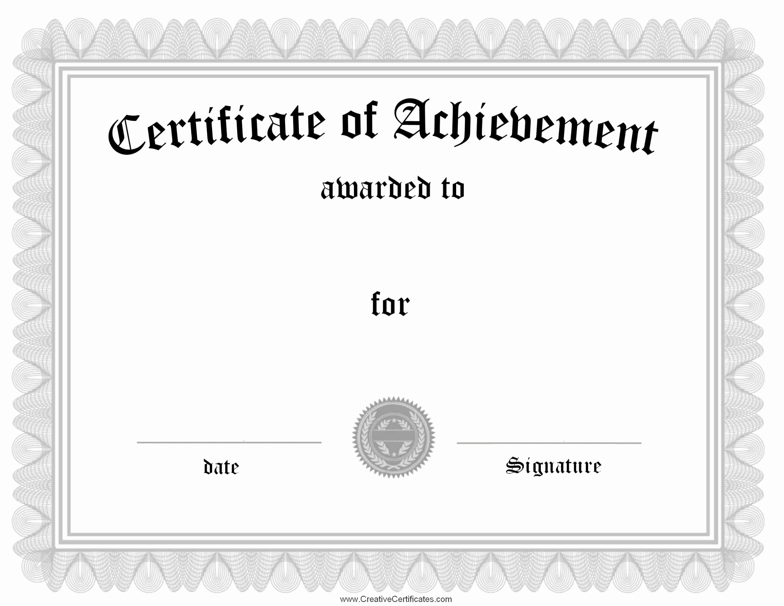 Certificate Of Achievement Unique Free Customizable Certificate Of Achievement