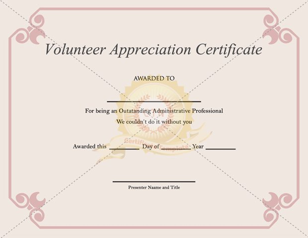 Certificate Of Appreciation for Volunteers Beautiful Volunteer Appreciation Certificate Pdf