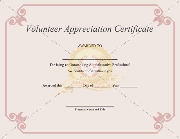 Certificate Of Appreciation for Volunteers Beautiful Volunteer Appreciation Certificate Pdf