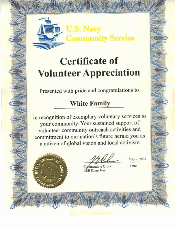 Certificate Of Appreciation for Volunteers Luxury About Me