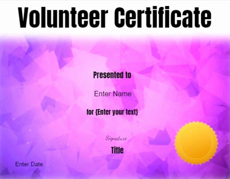 Certificate Of Appreciation for Volunteers Unique Volunteer Certificate Of Appreciation