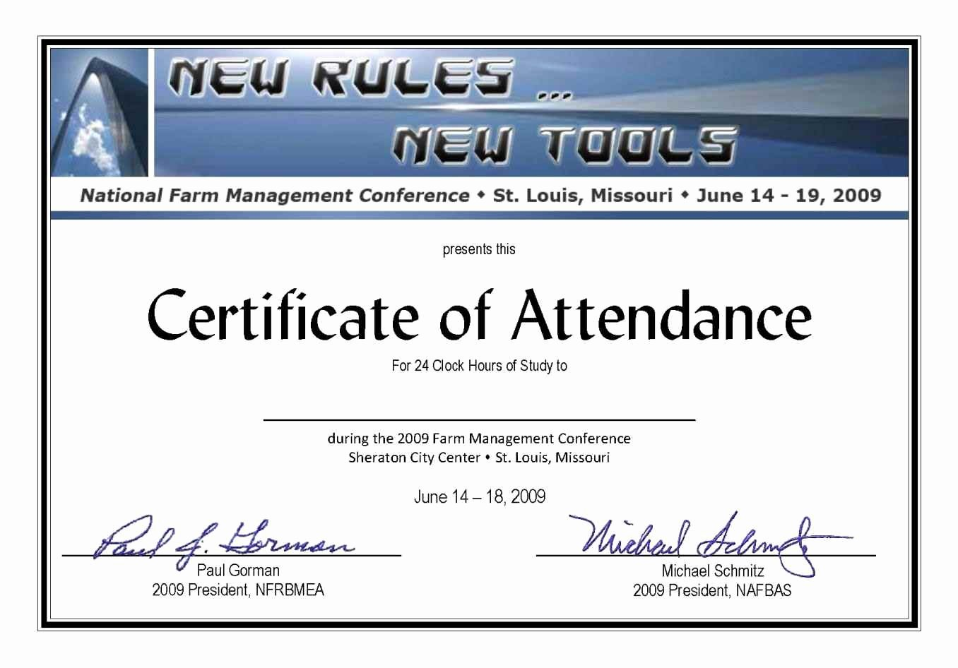 Certificate Of attendance Template Awesome Full attendance Certificate Template Update234