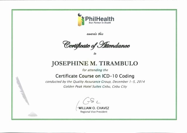 Certificate Of attendance Template Best Of Icd 10 Certificate Of attendance