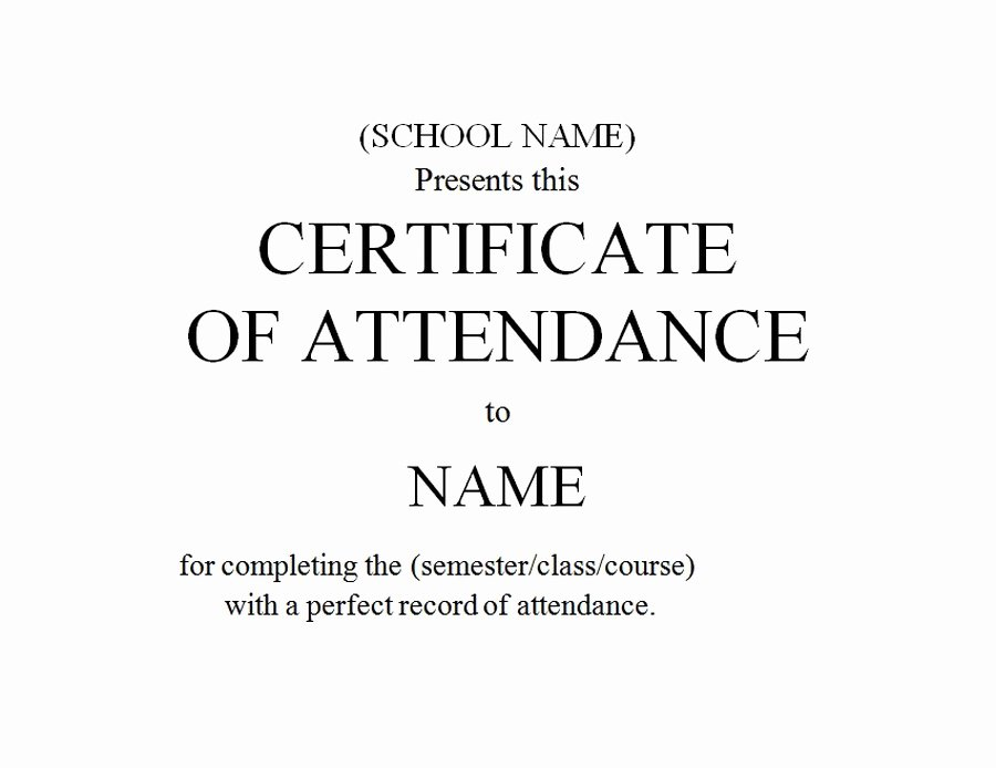 Certificate Of attendance Template Elegant Geographics Certificates