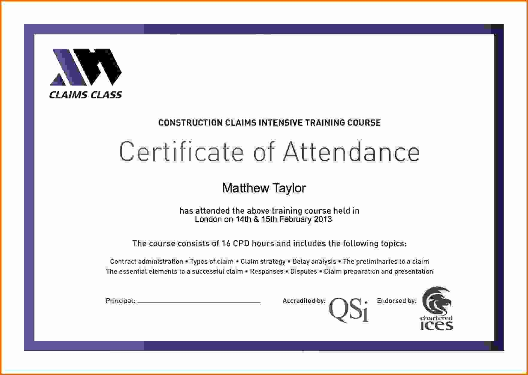 Certificate Of attendance Template Luxury Pin On Feza S Writing