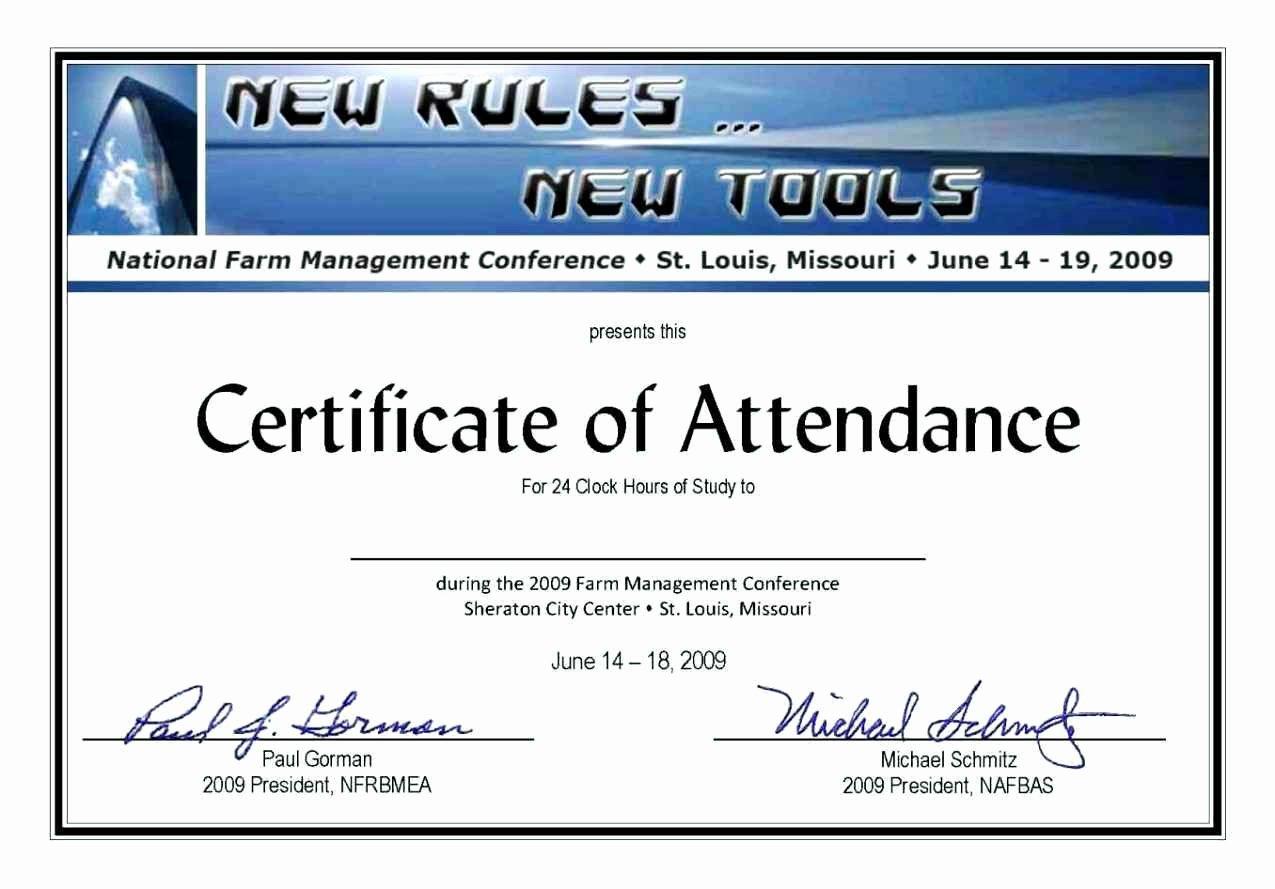 Certificate Of attendance Template Unique Blank Certificate attendance Template Update234