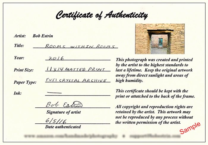Certificate Of Authenticity form Awesome Selling Your Art at An Art Show or Festival