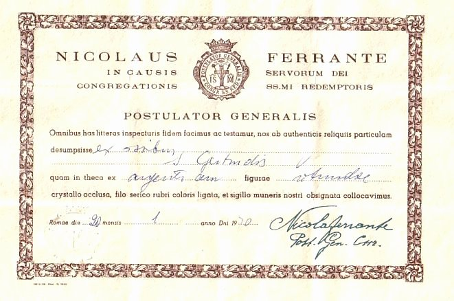 Certificate Of Authenticity form Beautiful Vatican Certificate Of Authenticity Of the Relic Of the