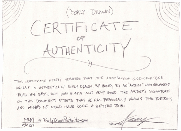 Certificate Of Authenticity form Luxury Questions that are Frequently asked