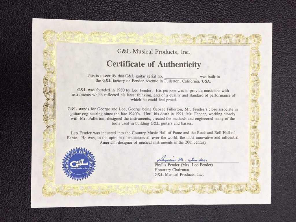 Certificate Of Authenticity form New Replacement Certificate Of Authenticity G&l Line Store