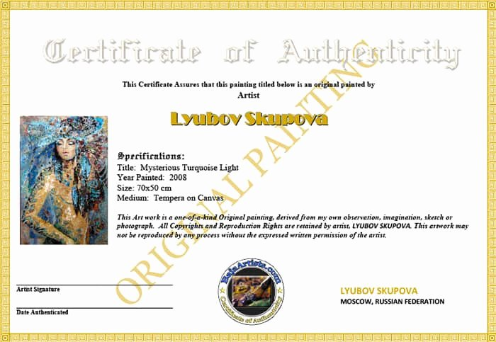 Certificate Of Authenticity Wording Awesome Certificate Authenticity Templates Word Excel Samples