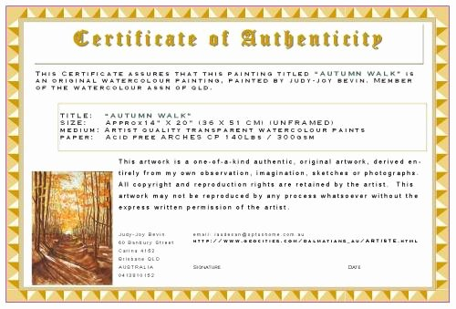 Certificate Of Authenticity Wording Awesome Etiquette & Tips How to Buy Maintain & Sell Art as