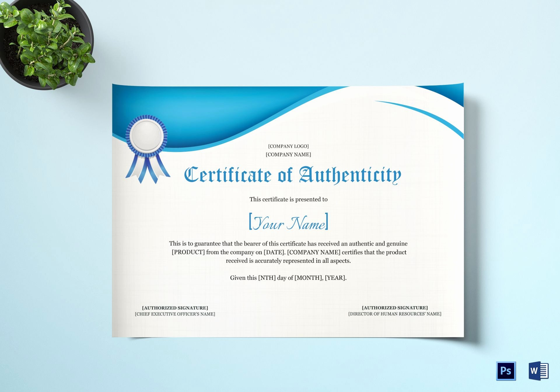 Certificate Of Authenticity Wording Beautiful Product Authenticity Certificate Design Template In Psd Word