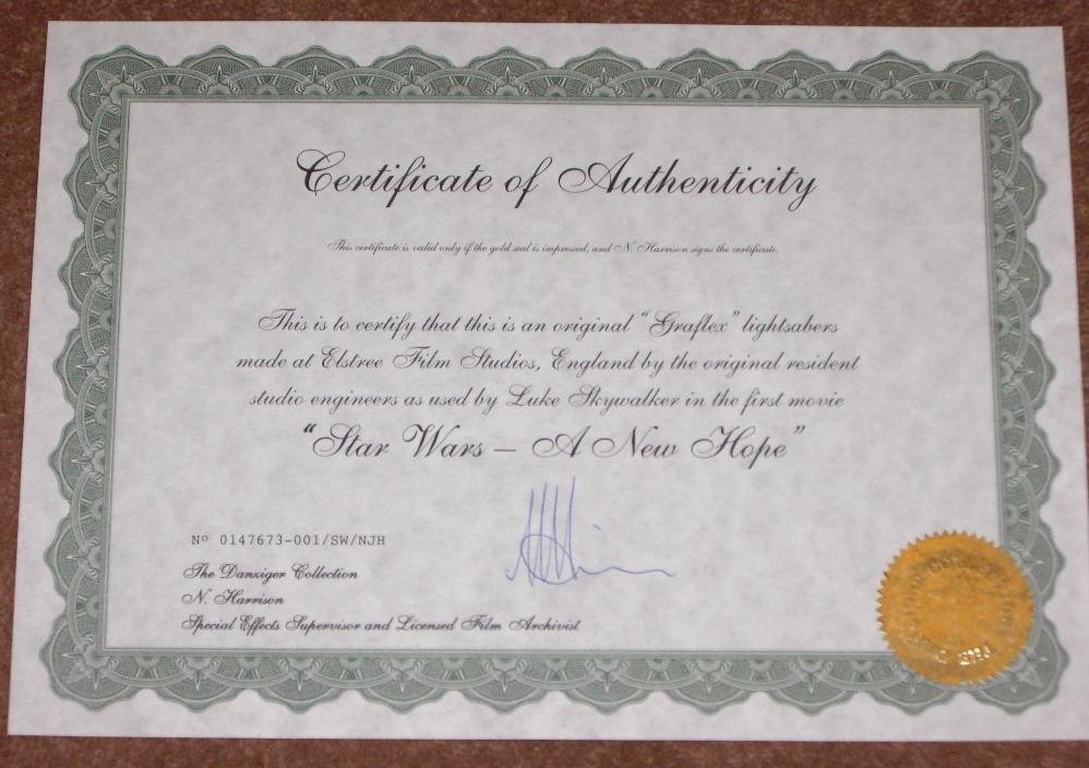 Certificate Of Authenticity Wording New Certificate Authenticity Wording