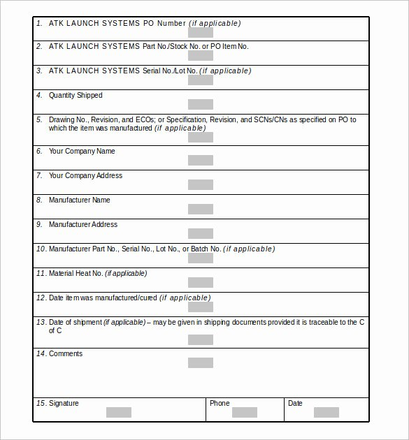 Certificate Of Conformance Example New Sample Certificate Of Conformance 23 Documents In Pdf